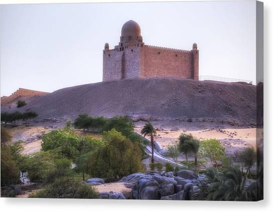 Flu Canvas Print - Mausoleum Of Aga Khan - Egypt by Joana Kruse