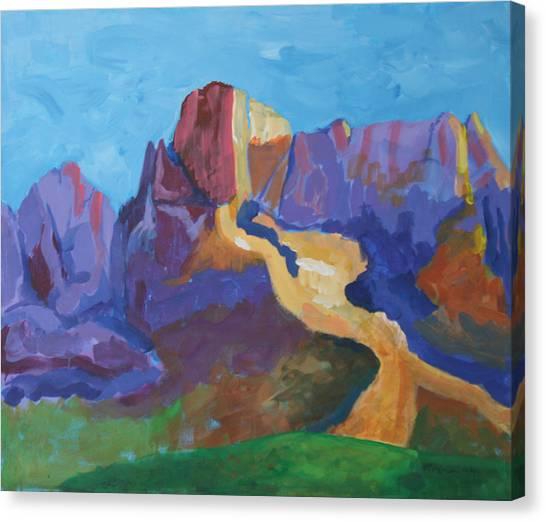 Mauve Catalina Canvas Print