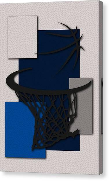 Dallas Mavericks Canvas Print - Mavericks Hoop by Joe Hamilton