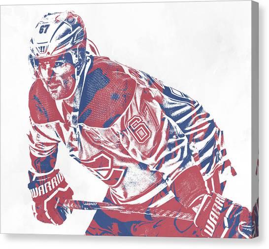 Montreal Canadiens Canvas Print - Max Pacioretty Montreal Canadiens Pixel Art 1 by Joe Hamilton