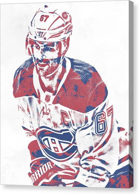 Montreal Canadiens Canvas Print - Max Pacioretty Montreal Canadiens Pixel Art 2 by Joe Hamilton