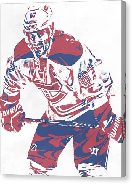 Montreal Canadiens Canvas Print - Max Pacioretty Montreal Canadiens Pixel Art 3 by Joe Hamilton