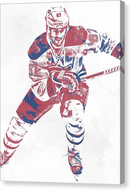 Montreal Canadiens Canvas Print - Max Pacioretty Montreal Canadiens Pixel Art 5 by Joe Hamilton
