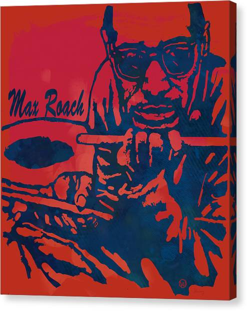 Miles Davis Canvas Print - Max Roach Pop  Stylised Art Sketch Poster by Kim Wang