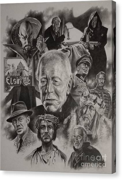 The Exorcist Canvas Print - Max Von Sydow by James Rodgers