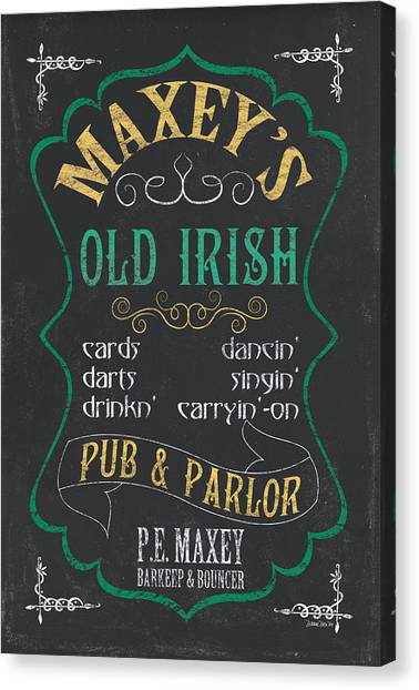 Parlors Canvas Print - Maxey's Old Irish Pub by Debbie DeWitt