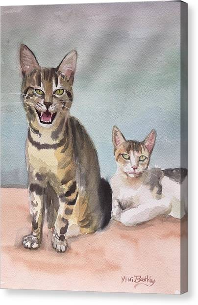 Maxi And Girlfriend Canvas Print
