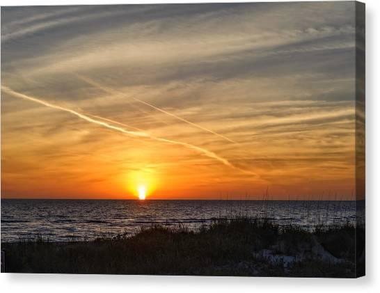 Southwest Florida Sunset Canvas Print - Maxine Barritt Park Sunset   -  Maxbarr874 by Frank J Benz