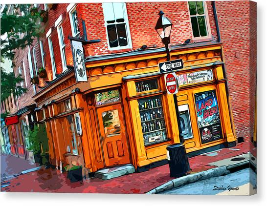 Fells Point Baltimore Maryland Canvas Print - Max's On Broadway by Stephen Younts