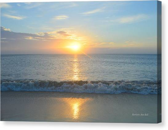 Canvas Print featuring the photograph May 23 Sunrise by Barbara Ann Bell