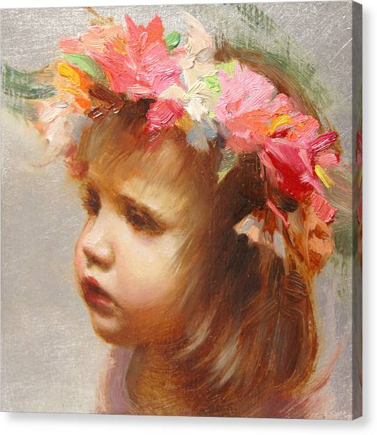 Oil On Canvas Print - May Flowers by Anna Rose Bain