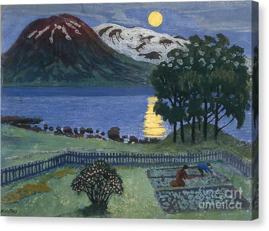 Vegetable Garden Canvas Print - May Moon by Nikolai Astrup