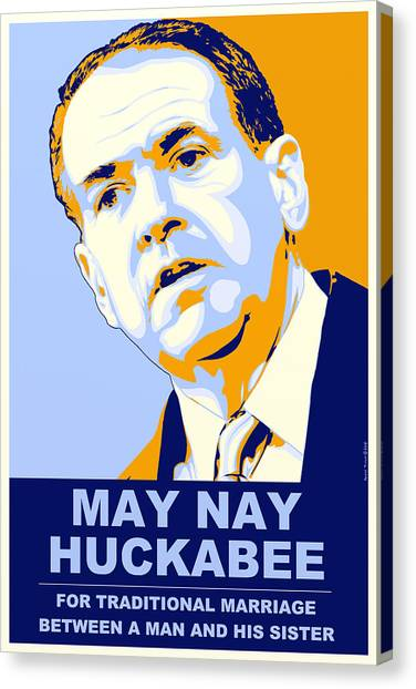 Obamacare Canvas Print - May Nay Huckabee by Randell Trulson