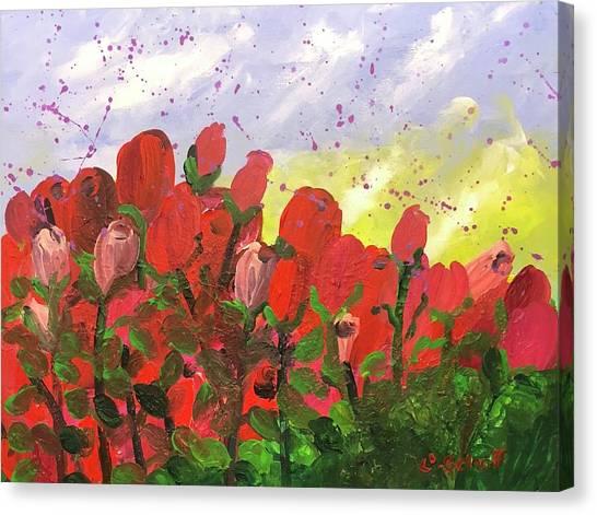 May Roses Canvas Print