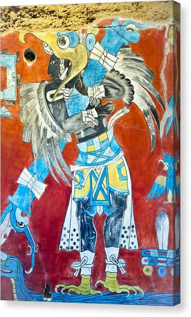 Mayan Fresco II Canvas Print