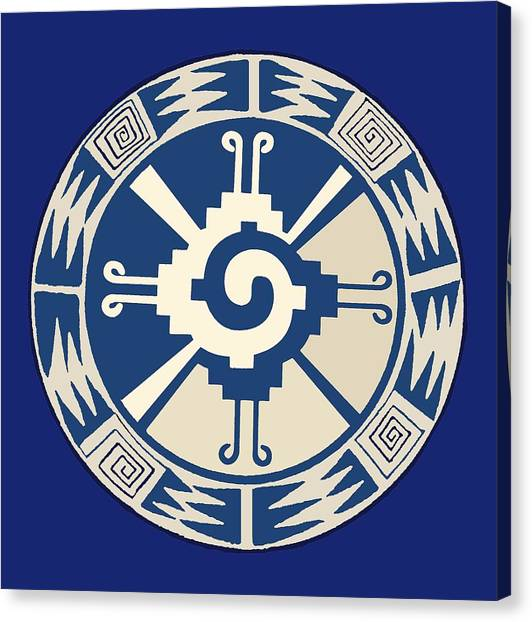 Mayan Hunab Ku Design Canvas Print