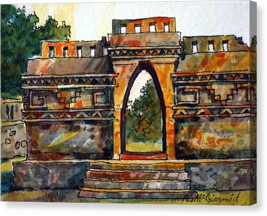 Mayan Ruins Canvas Print by Richard McDiarmid