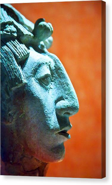 Mayan Sculpture Canvas Print