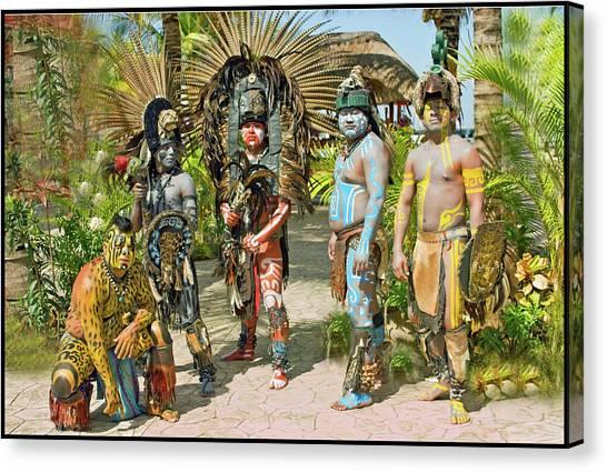 Mayans Canvas Print by Jorge Gaete