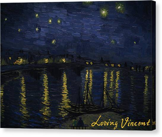 Vincent Van Gogh Canvas Print - Maybe We Can Take Death To Go To A Star? by Bartosz Armusiewicz