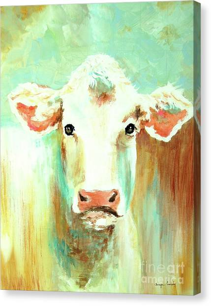 Maybell The Cow Canvas Print