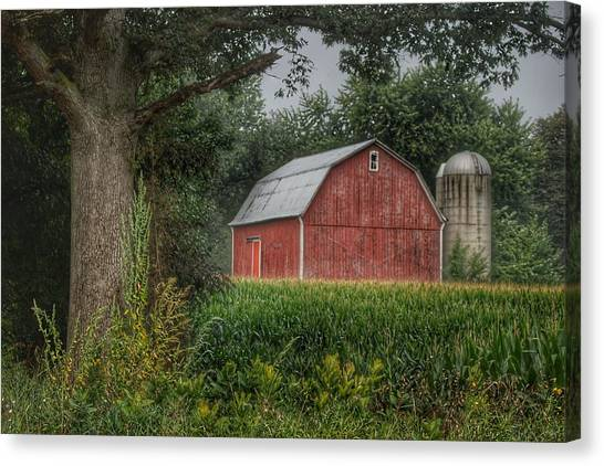 0027 - Mayville's Lapeer Road Red Canvas Print