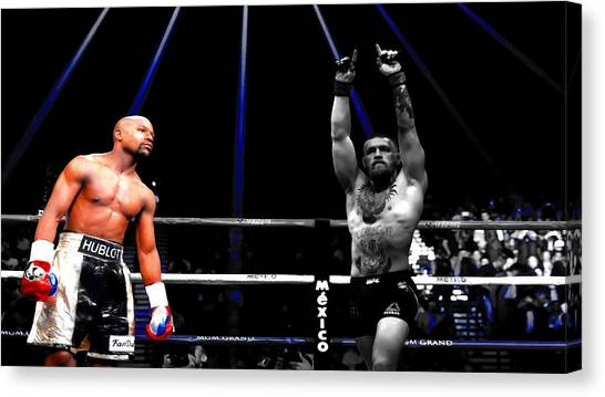 Anthony Martial Canvas Print - Mayweather And Mcgregor 2a                   by Brian Reaves
