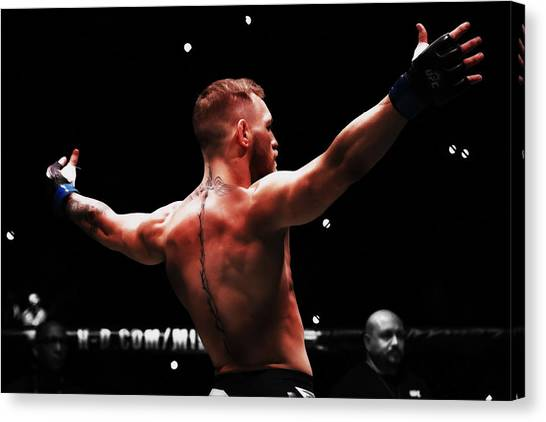 Anthony Martial Canvas Print - Mayweather And Mcgregor 2b                  by Brian Reaves