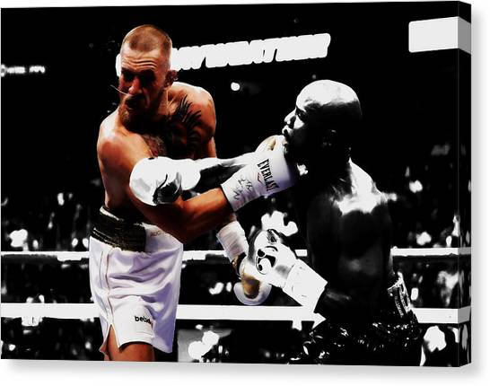 Anthony Martial Canvas Print - Mayweather And Mcgregor Bamm                by Brian Reaves