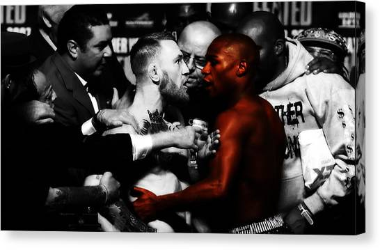 Anthony Martial Canvas Print - Mayweather And Mcgregor 3b                   by Brian Reaves