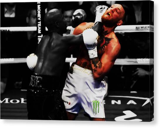 Anthony Martial Canvas Print - Mayweather And Mcgregor 3c                   by Brian Reaves