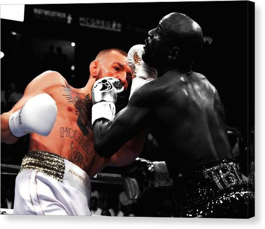 Anthony Martial Canvas Print - Mayweather And Mcgregor 3e                   by Brian Reaves