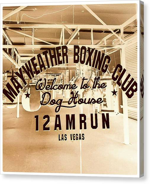 Manny Pacquiao Canvas Print - Mayweather Boxing Club by Shirley Anderson