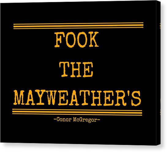 Floyd Mayweather Canvas Print - Mayweather by Heree Uki