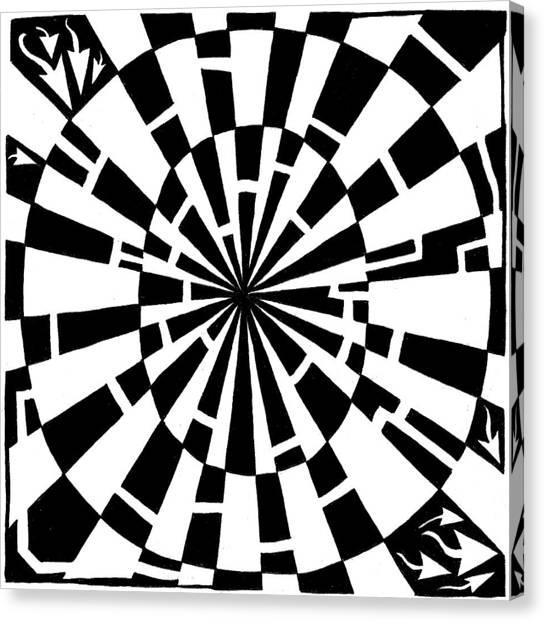Maze-bama Canvas Print by Yonatan Frimer Maze Artist