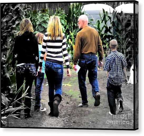 Corn Maze Canvas Print - Maze by Leslie Hunziker