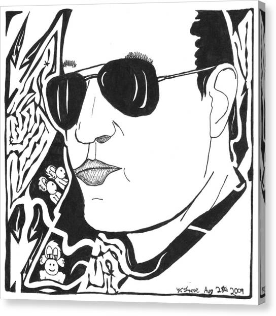 Maze Of Eli Gurock Canvas Print by Yonatan Frimer Maze Artist