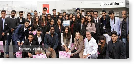 Mba Canvas Print - Mba Tour For Students Factory Visits by Happymiles Tours Operator