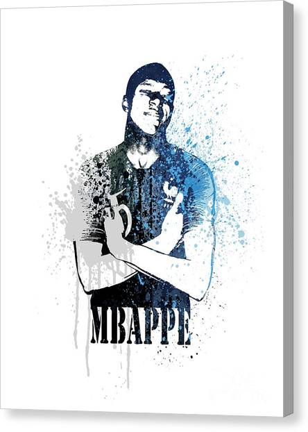 Andres Iniesta Canvas Print - Mbappe #dark Blue #world Cup 2018 #france by Art Popop