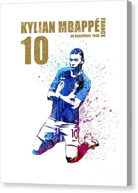 Andres Iniesta Canvas Print - Mbappe #gold #world Cup 2018 #france by Art Popop