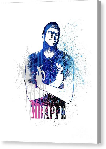 Andres Iniesta Canvas Print - Mbappe  #world Cup 2018 #france by Art Popop