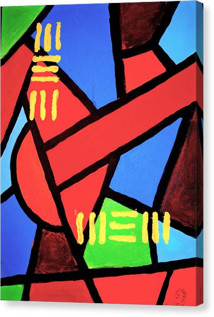 Mbili Canvas Print by Malik Seneferu