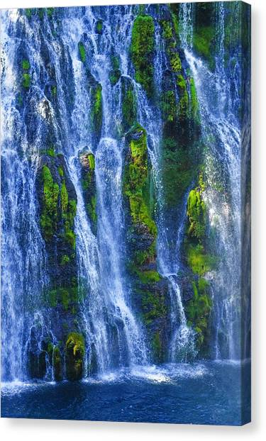 Canvas Print featuring the photograph Mcarthur-burney Falls by Sherri Meyer