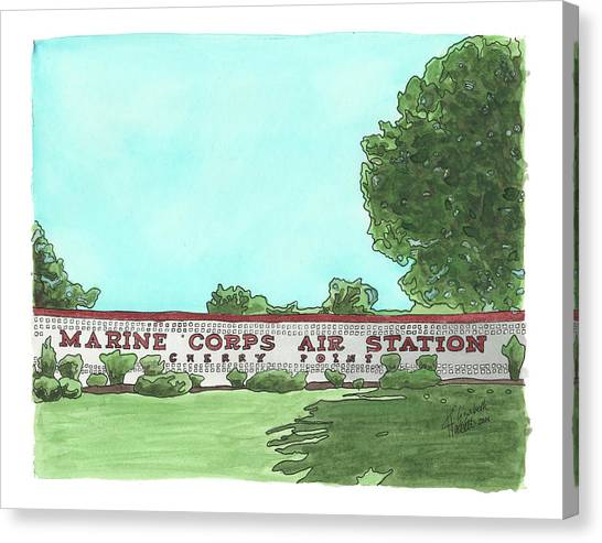 Mcas Cherry Point Welcome Canvas Print