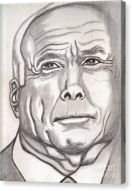 John Mccain Canvas Print - Mccain by Richard Heyman