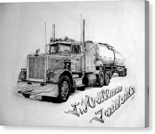 Mccallum Trucking Canvas Print by Dean Herbert