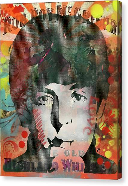 Paul Mccartney Canvas Print - Mccartney Rob Roy by Dean Russo Art