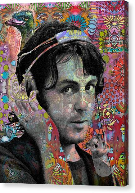 Koala Canvas Print - Mccartney With Animals by Dean Russo Art
