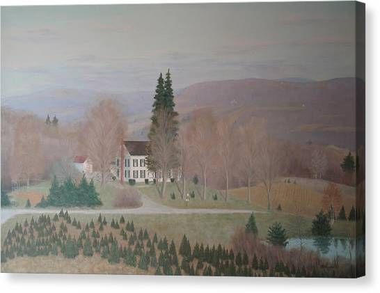 Mccarty Farm House Canvas Print by Joseph Stevenson