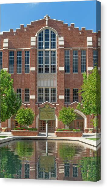 Oklahoma University Canvas Print -  Mccasland Field House by Ken Wolter